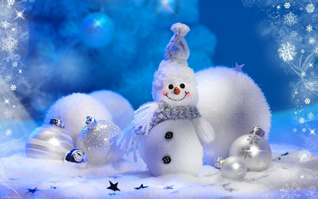 koledna snimka s snejen chovek