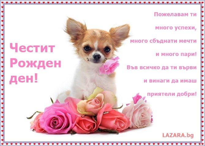 картичка с пожелания за рожден ден