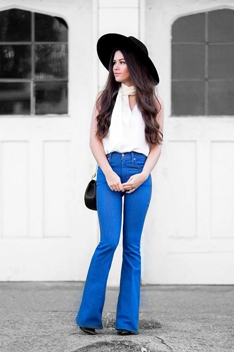панталони с широки крачоли