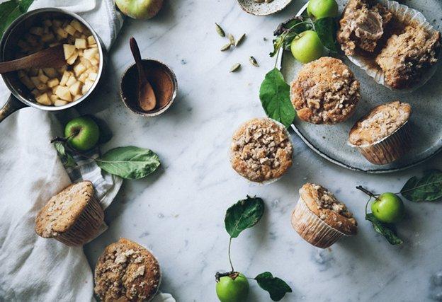 мъфини с ябълки