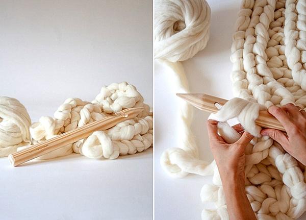 napravi si sam pleteno odealo na dve kuki