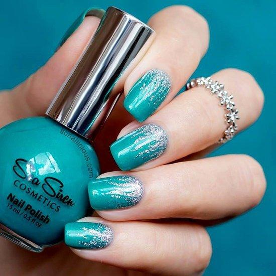 dekorirane na nokti s brokat
