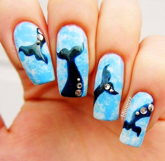 dekorirane na nokti s morski motivi