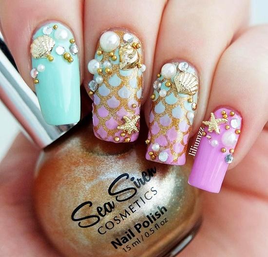 dekoraciq na nokti s morski motivi