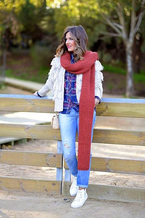 плетени шалове