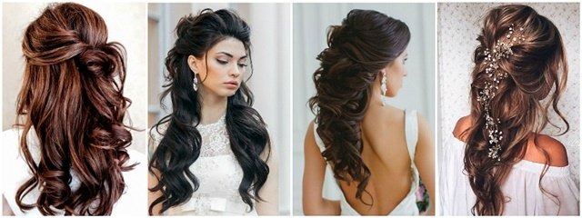 Frizura sa polupodignutom kosom za venčanje