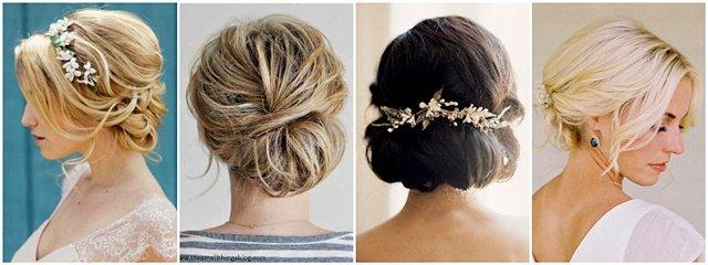Šik podignuda frizura za venčanje za kratku kosu