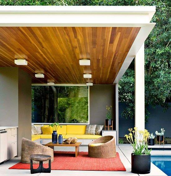 moderna veranda s vunshna kuhnq