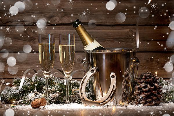 koledni kartinki s shampansko