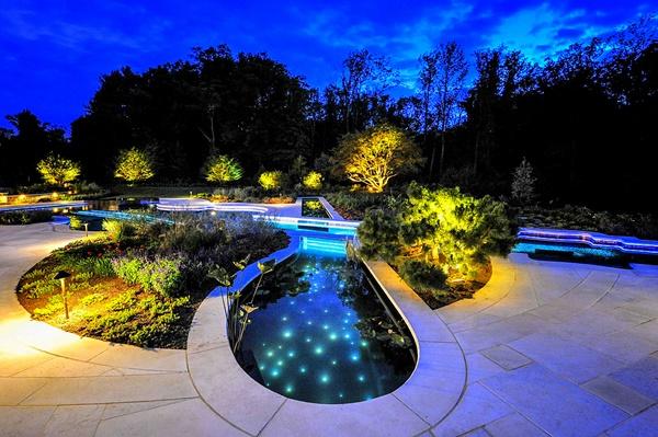 езера в двора и градината