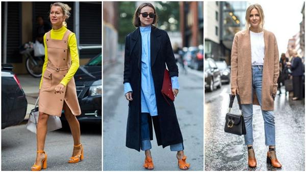 kak da nosim oranjevi obuvki