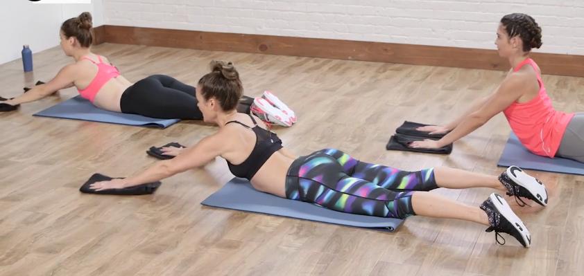 упражнения за корем и бедра