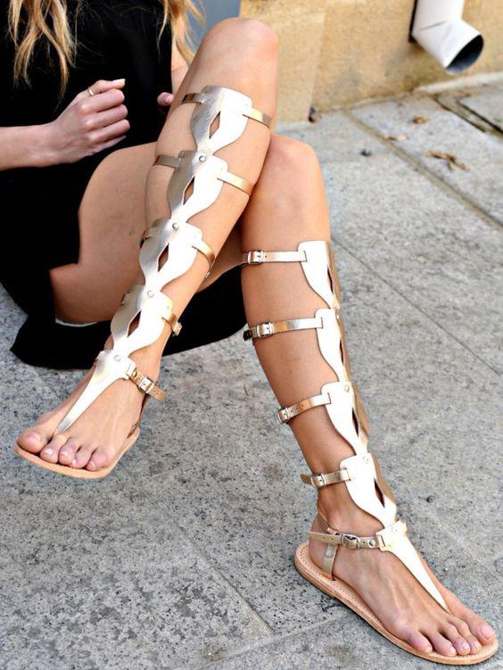 gladiatorski sandali za lqtoto nachini na nosene