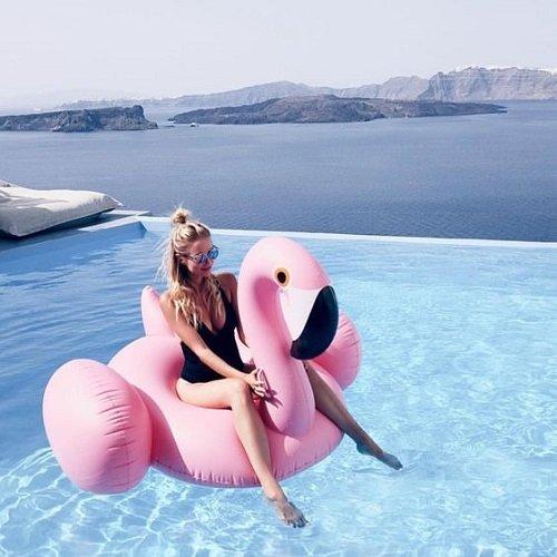 zabavni poqsi za basein i more poqs rozovo flamingo