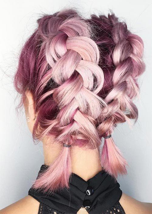 pricheski s plitki za rozova kosa