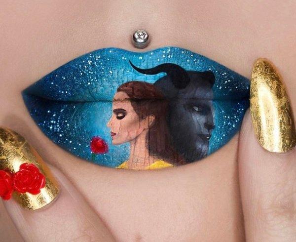 lips art izkustvo vurhu ustni s risunki i kartini