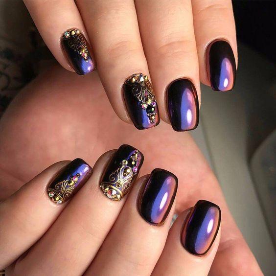 Новогодний дизайн ногтей картинки