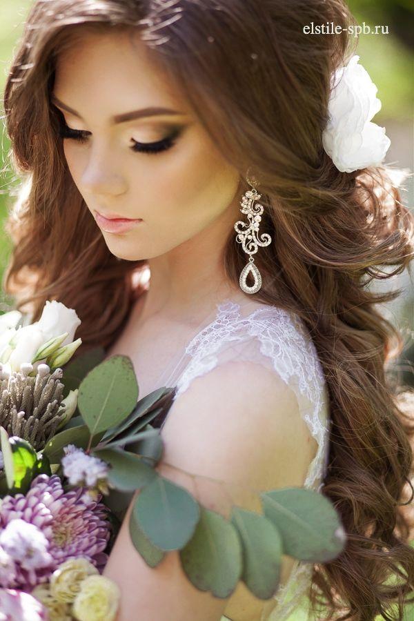 svatbena pricheska s pusnata kosa