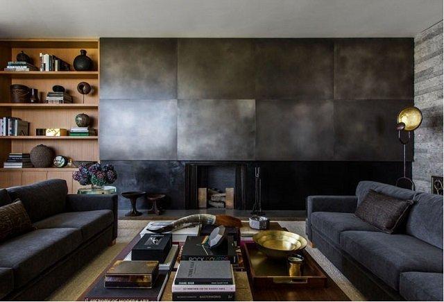 moderen interioren dizain na hol v sivo