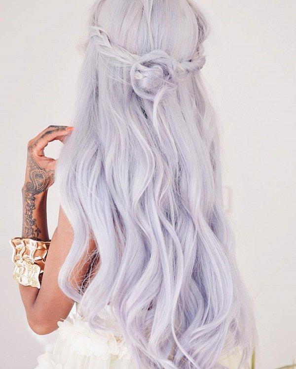 sivo lilav cvqt za kosa