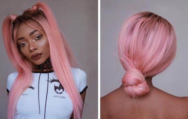 idei za lesni pricheski za rozova kosa
