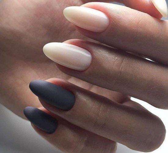 sempul manikur za nokti v badem forma