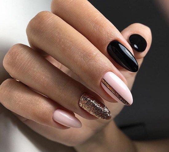 krasiv manikur za ostri nokti