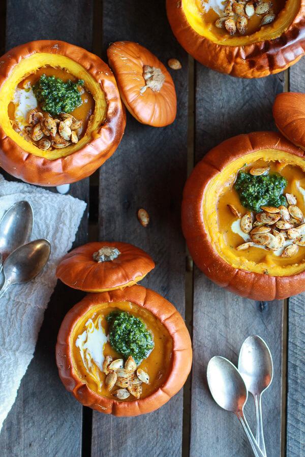 recepta za krem supa ot tikva i domashno pesto