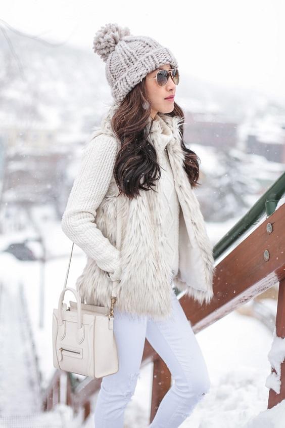 zimno obleklo v bqlo