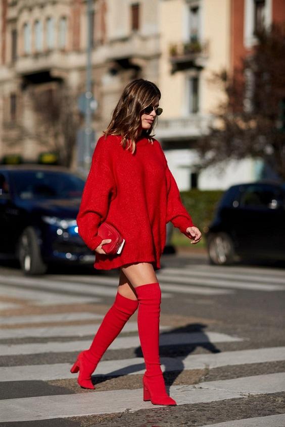 cherveni botushi za esen zima