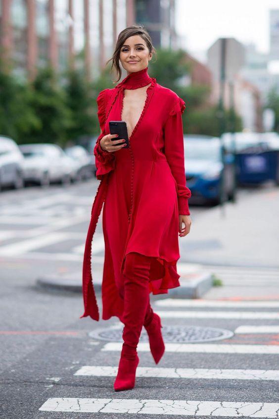 cherveni botushi za zimata