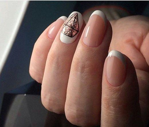frenski manikur s dekoraciq diamant