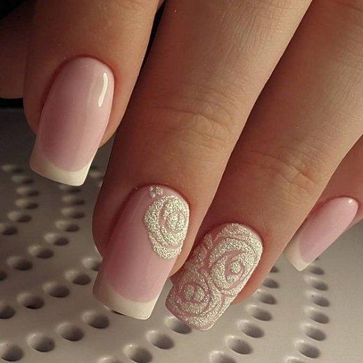 frenski manikur s rozi dekoraciq