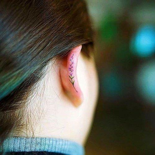 malka tatuirovka uho