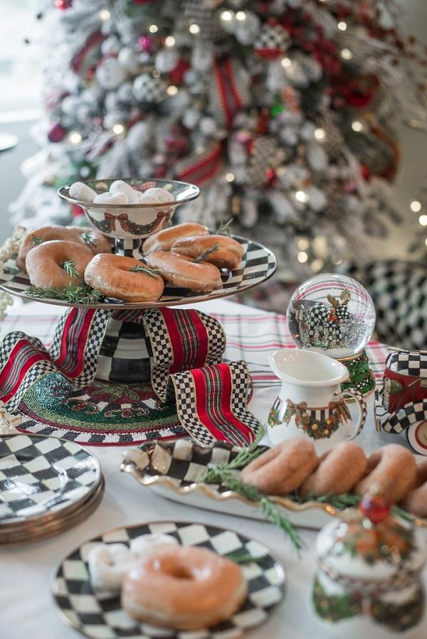 koledni masa s dekoraciq sladki