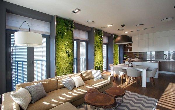 interiorni zeleni steni s rasteniq