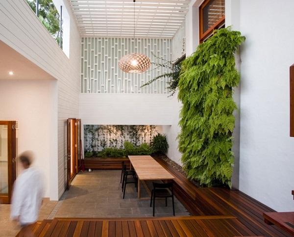 interiorna stena s rasteniq green wall