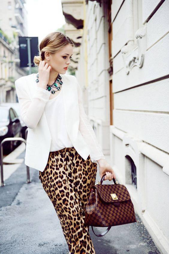jivotinski print za zimata leopardov pantalon