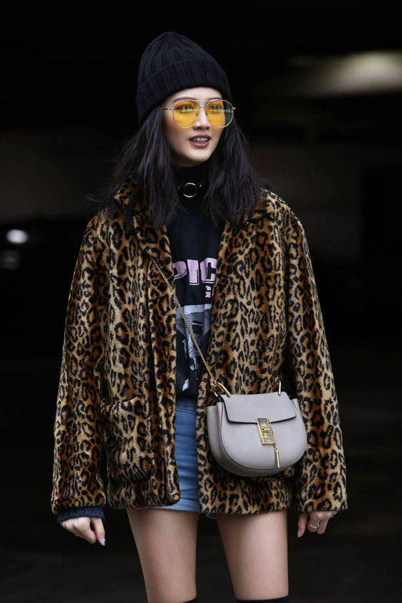 leopardovo palto jivotinski print za zimata