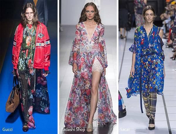 modni tendencii prolet lqto 2018 florali