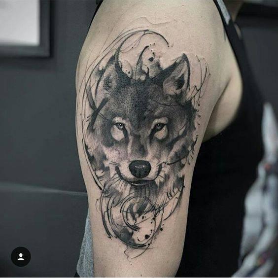 tatuirovka vulk za ramo na muj