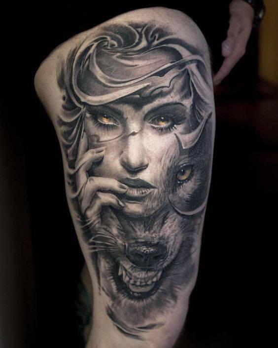 vulk tatuirovka za krak