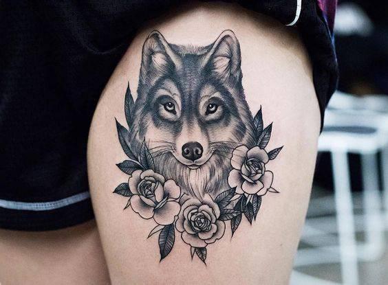 татуировка вълк