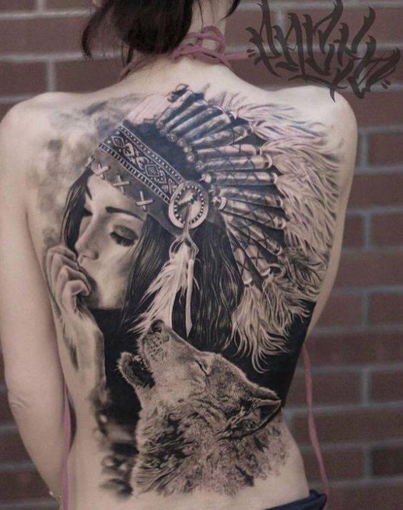 golqma tatuirovka vulk i jena za grub