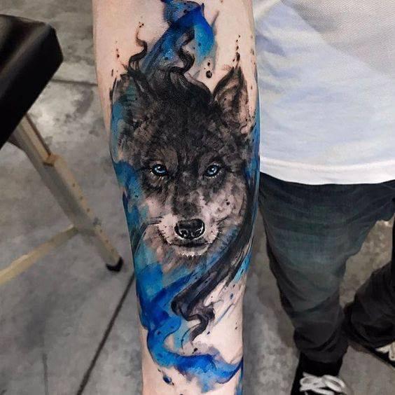 cvetna tatuirovka vulk