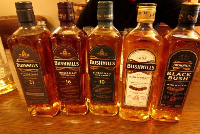 bushmils uiski butilki