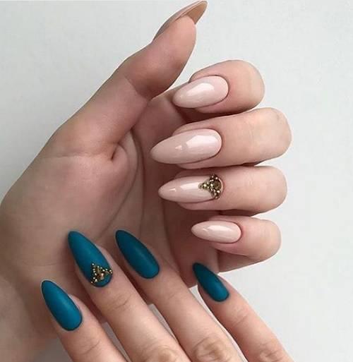 proleten manikur za ostri nokti