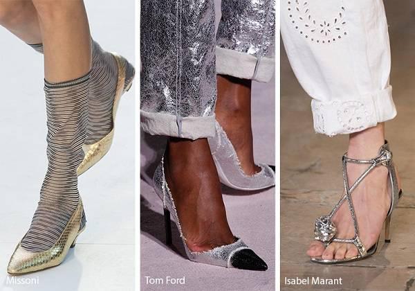 srebristi obuvki za prolet lqto 2018