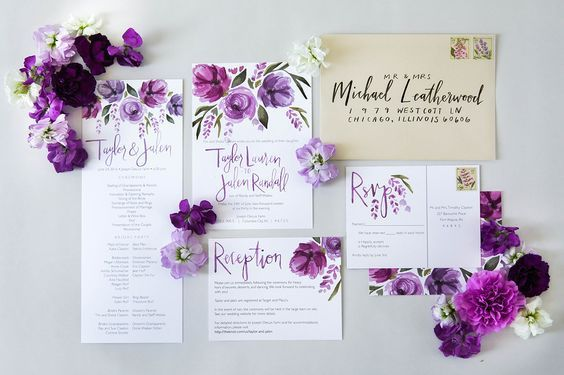pokani za svatba v bqlo i lilavo ultraviolet
