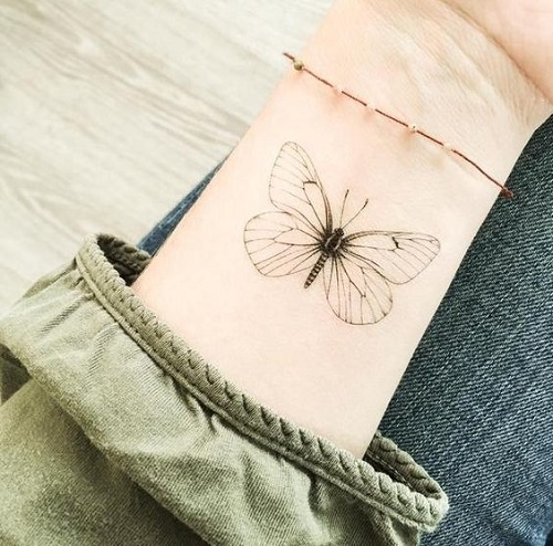 malka tatuirovka peperuda